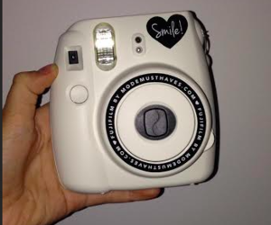 camera, polaroid, and polaroidcamera image