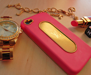 pink, iphone, and chanel image