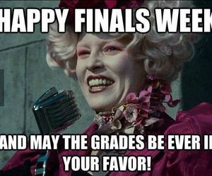 finals, hunger games, and funny image