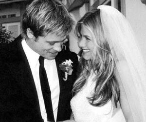 brad pit, celebrity wedding, and cute image