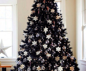 christmas, tree, and snow image