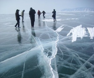 ice, winter, and people image