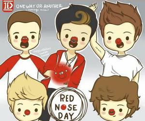 one direction, red nose day, and 1d image