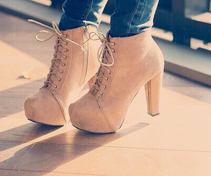 beige, fashion, and high heels image