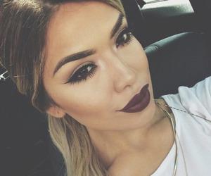 girl, make up, and lips image