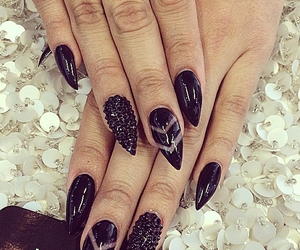 nails, black, and laque image