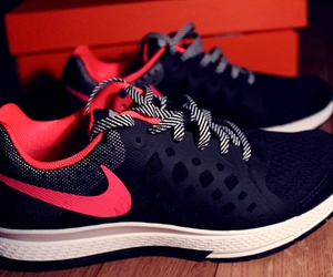 black, nike, and pegasus image