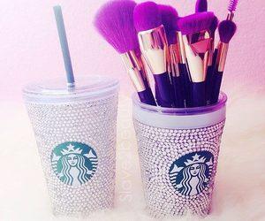 starbucks, makeup, and Brushes image