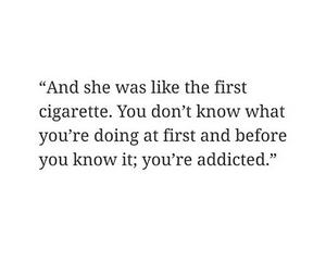 quote, cigarette, and love image