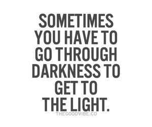 Darkness, light, and sometimes image