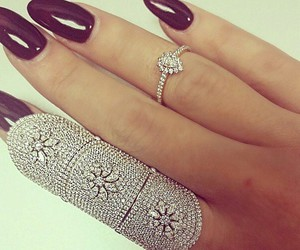 nails, luxury, and ring image
