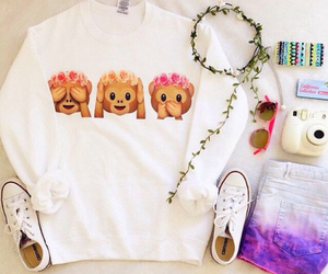 outfit, emoji, and clothes image