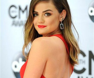 lucy hale, pll, and red image