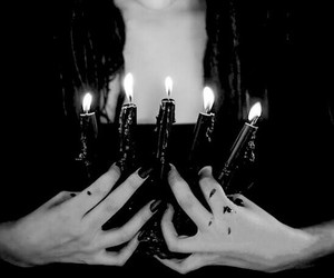 candles, black and white, and dark image