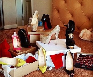 heels, louboutin, and love image