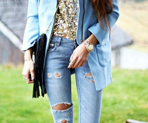 fashion, jeans, and classy image