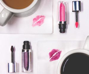 coffee, girly, and kiss image