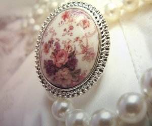 floral, jewellery, and ring image