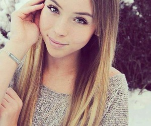 girl, pretty, and snow image