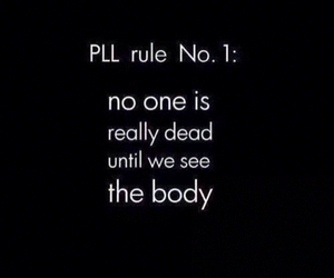 pll, pretty little liars, and rules image