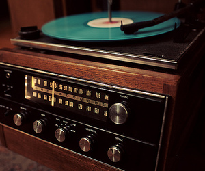 record, radio, and record player image