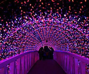 light, purple, and christmas image
