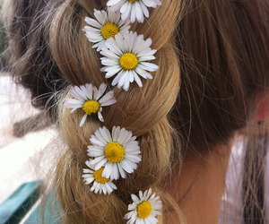 blonde, flores, and hair. beautiful image