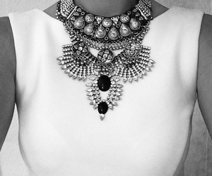 black and white, statement, and woman image