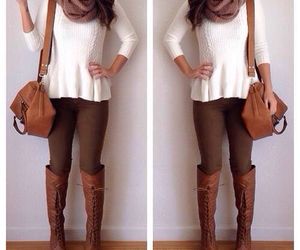 bag, fall, and boots image