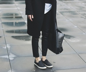 black and white, fashion, and street style image