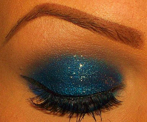 make up, eye, and blue image