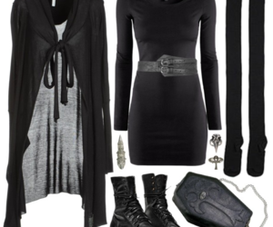black, clothes, and gothic image