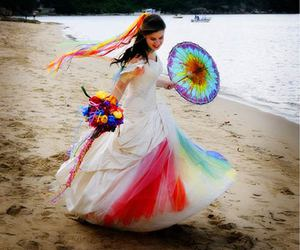 bride, colorful, and color image