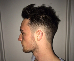 hair cut, hairstyle, and men image