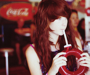 girl, cute, and drink image