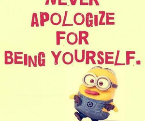 quote, apologize, and minions image