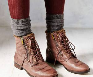 fashion, boots, and socks image