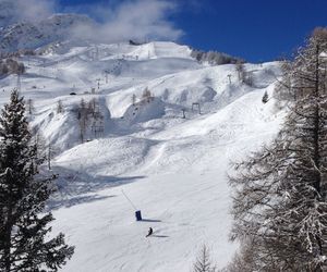 blue sky, italy, and ski image