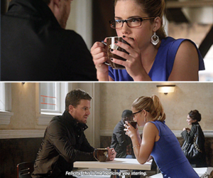 arrow, couple, and the flash image