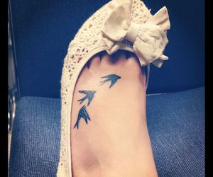 tattoo, birds, and swallow image