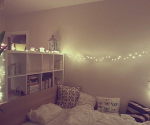 bed, books, and christmas image