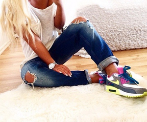 air max, fashion, and jeans image