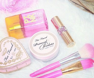 Brushes, toofaced, and cosmetics image