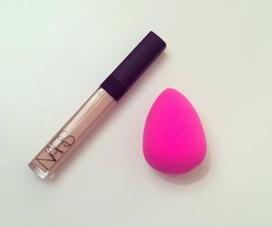 lipgloss, nars, and beauty blender image