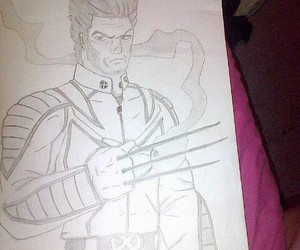 wolverine, drawing, and pencil image