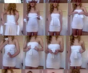 dress, tutorial, and step by step image