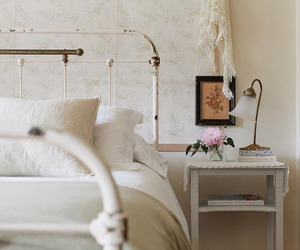 bed, farmhouse, and home decor image