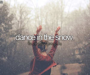 december, snow, and dance image