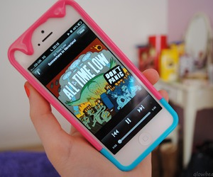 iphone, music, and all time low image