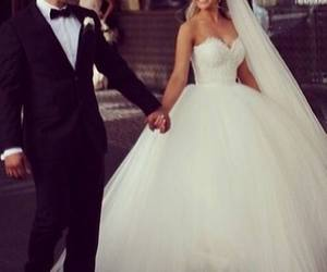 wedding, love, and dress image